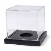 Baseball Acrylic Display Case, 9.3cm x 9.3cm x 8.9cm , Black Base