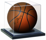 MCS Full Size Basketball -Soccer Ball Display Case, Clear with Black Base