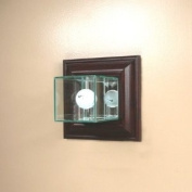 Wall Mounted Glass Golf Ball Display Case with Cherry Wood Moulding