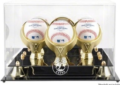Aifusi Baseball Display Case Square Acrylic Baseball Holder Clear