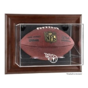 Tennessee Titans Brown Framed Wall Mounted Logo Football Case