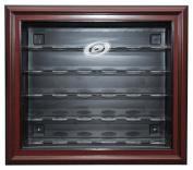 NHL Carolina Hurrincanes 30 Puck Cabinet Style Display Case, Mahogany