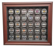 Florida Panthers 30 Puck Cabinet Style Display Case, Mahogany