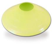 20cm Neon Yellow Disc Cone