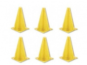 Champion Sports 22.9cm Coloured Cones All Yellow - Set of 6