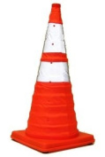 71.1cm Lighted, Collapsible Traffic Safety Cone