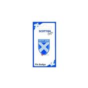 Badge Pin Badge Scotland Saltire on Shield