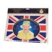The Queen's Diamond Jubilee Commemorative Bunting - 8 Flags - 30.5cm