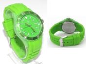 Reflex Green Silcone Strap Analogue Ladies - Unisex Sports Watch SR003