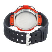 Armitron Men's 408233ORG Chronograph Multi-Function Orange Accented Black Resin Sport Watch