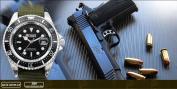 Shark Army Mens Green Nylon Date Military Sport Bracelet Quartz Watch + Gift Box