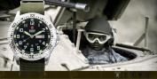 Shark Army Mens Date Day Nylon White Silver Military Sport Bracelet Watch + Box
