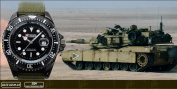 Shark Army Mens Green Nylon Date Military Sport Quartz Wrist Watch + Box