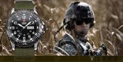 Shark Army Mens Date Day Nylon Black Military Sport Bracelet Watch + Box