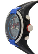 Ohsen Dual Time Blue Surface Round Dial Analogue Chronograph Watches