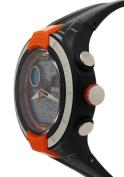 Ohsen Orange Surface Black Rubber Strap Round Dial Analogue Watches