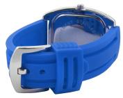 Trax Women's TR1740-BBL Malibu Fun Blue Rubber Black Dial Crystal Watch