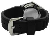 Trax Women's TR3925-BK Rox Black Rubber Black Dial Crystal Bezel Watch