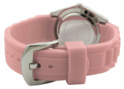 Trax Women's TR3925-PK Rox Pink Rubber Pink Dial Crystal Bezel Watch