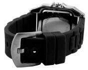 Trax Women's TR5132-WB Posh Square Black Rubber White Dial Watch