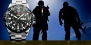 Shark Army Mens Date Day Luminous Black Military Sport Quartz Watch + Gift Box