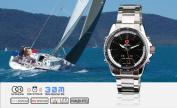 SHARK LED Quartz Digital Date Day Men Fashion Sport Stainless Steel Watch