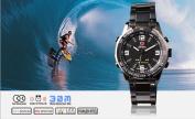 SHARK Luxury Date Day Alarm Analogue LED Digital Mens Sport Wrist Watch