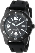 Smith & Wesson Men's SWW-5983 Paratrooper Black Rubber Strap Watch