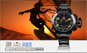 SHARK Digital Army Led Men Steel Sport Watch Black New