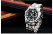 KS Mens Black Date Day Auto Automatic Mechanical Wrist Watch + Gift Box