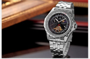 KS Luxury Tourbillion Moon Phase Automatic Mechanical Mens Sport Wrist Watch