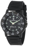 Smith & Wesson Men's SWW-45 S.W.A.T. Black Rubber Strap Watch