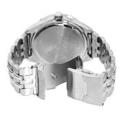 Armitron Men's 204664BLSV Silver-Tone Stainless-Steel Multi-Function Blue Dial Sport Watch