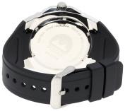 Pulsar Men's PXH633 Sport Silver-Tone Black Resin Strap Watch