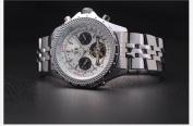 KS Automatic Mechanical Tourbillon Mens Stainless Steel Big Case Wrist Watch
