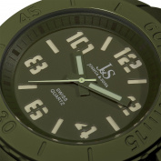 Joshua & Sons Men's JS-37-GN Silicon Luminous Swiss Quartz Sport Watch