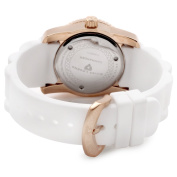 Swiss Legend Women's 10114-RG-02 Commander White Polyurethane and Rose Gold Tone Watch