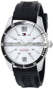 Tommy Hilfiger Men's 1790919 Casual Sport 3-Hand Black Silicone Strap Watch