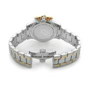 Bulova Men's 65B105 Accutron Two-Tone Elapsed Time White Dial Watch