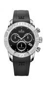 Edox Women's 10405 3 NIN Royal Lady Chronograph Black Dial Rubber Watch
