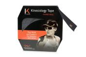 KT TAPE Original Cotton Elastic Kinesiology Theraeputic Tape - 38m Jumbo Uncut Roll, Black