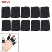 Como 10 Pcs Black Neoprene Sports Finger Protector Support