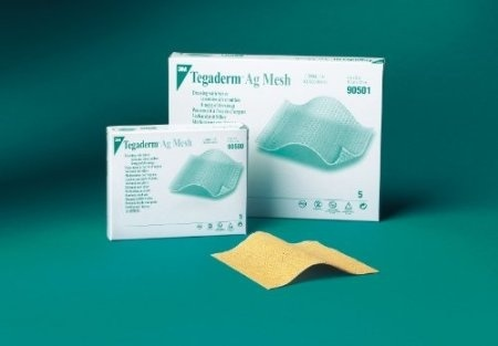 Tegaderm AG Mesh Dressing with Silver by 3M Healthcare ( DRESSING,  TEGADERM, AG MESH, SILVER, 5 1cm X5 1cm ) 5 Each / box