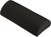 Hermell Products Black Softeze Memory Foam Half Lumbar Roll 25cm by 15cm with Strap