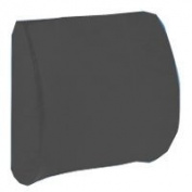 Hermell Products Softeze Memory Foam Lumbar Cushion with Grey Polycotton Cover