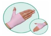 Juzo 2001AC43 L DreamSleeve Gauntlet - Pink
