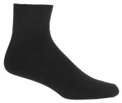 Black Ankle Socks 3 Pack |Mens Diabetic Socks | Seamless Toe | Sugar Free Sox
