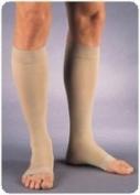 Relief 30-40Mm Knee-Hi, X-Lrg, Opn Toe, Beige,Pair