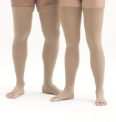 Mediven Forte 30-40 mmHg Open Toe Thigh Highs w/ Silicone Top Band Size