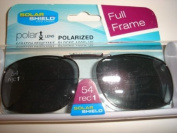 Solar Shield 54 Rec 1 Full Frame Grey Polarised Clip on Sunglasses